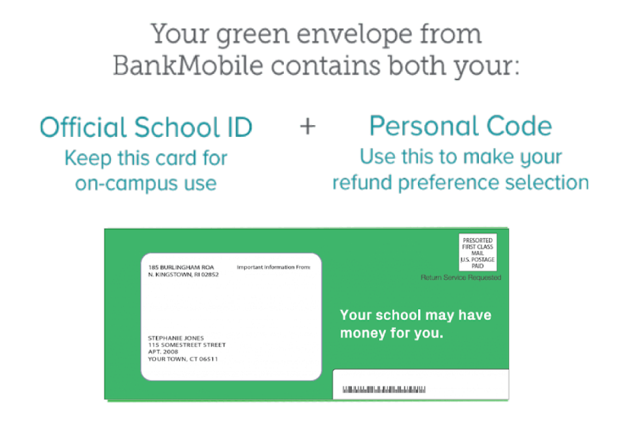 green bankmobile envelope